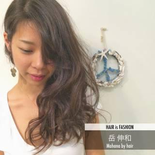 パーマ 外国人風 デジタルパーマ ナチュラル ヘアスタイルや髪型の写真・画像