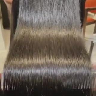 暗髪女子 インナーカラー 艶髪 ロング ヘアスタイルや髪型の写真・画像