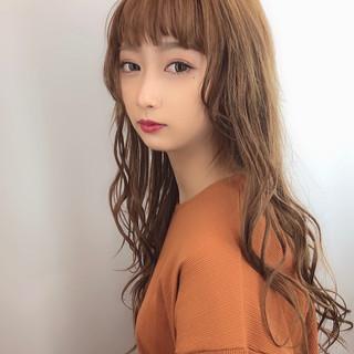 可愛い エレガント 大人かわいい ロング ヘアスタイルや髪型の写真・画像