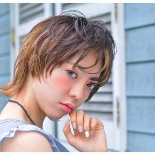 ウェットヘア 外国人風 ストリート ミディアム ヘアスタイルや髪型の写真・画像