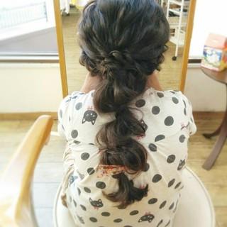暗髪 簡単ヘアアレンジ ヘアアレンジ ショート ヘアスタイルや髪型の写真・画像