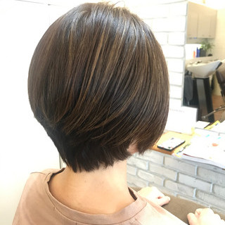 3Dハイライト 透明感カラー ショートヘア ショート ヘアスタイルや髪型の写真・画像