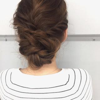 大人かわいい 外国人風 ロング ブラウン ヘアスタイルや髪型の写真・画像