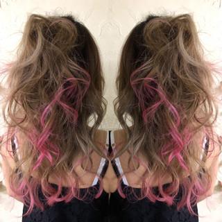 外国人風カラー 裾カラー ダブルブリーチ 西海岸風 ヘアスタイルや髪型の写真・画像