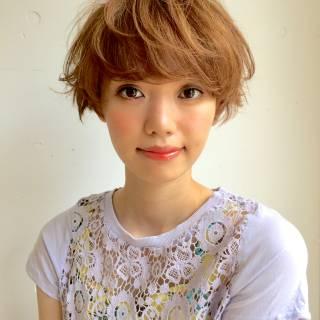 外ハネ ショート パーマ パンク ヘアスタイルや髪型の写真・画像