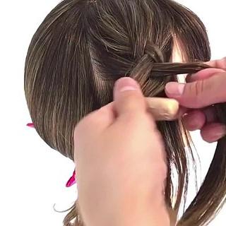 ロング 裏編み込み ヘアアレンジ 簡単ヘアアレンジ ヘアスタイルや髪型の写真・画像