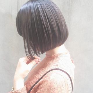 女子力 大人かわいい ショートボブ ナチュラル ヘアスタイルや髪型の写真・画像
