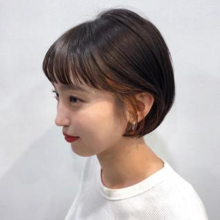 黒髪 ナチュラル インナーカラー 簡単ヘアアレンジ ヘアスタイルや髪型の写真・画像