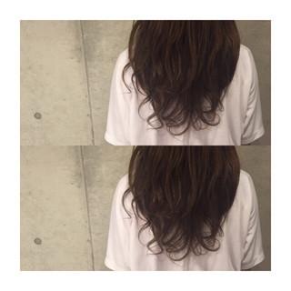 大人かわいい アッシュ セミロング ストリート ヘアスタイルや髪型の写真・画像
