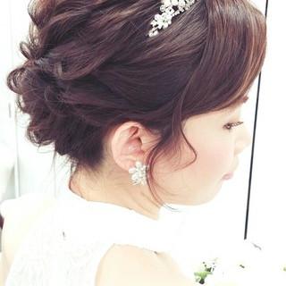 大人かわいい 結婚式 ゆるふわ ヘアアレンジ ヘアスタイルや髪型の写真・画像