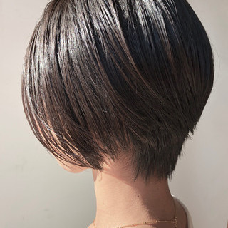 ナチュラル 前下がり 簡単 ボブ ヘアスタイルや髪型の写真・画像
