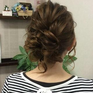 結婚式 ナチュラル ヘアアレンジ セミロング ヘアスタイルや髪型の写真・画像 ヘアスタイルや髪型の写真・画像