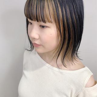 インナーカラー ストリート ヌーディベージュ アンニュイほつれヘア ヘアスタイルや髪型の写真・画像