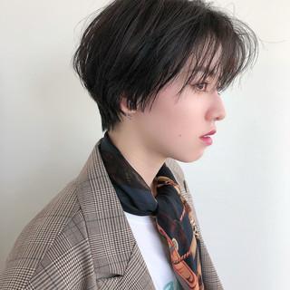 ミニボブ ウルフカット ショート ショートヘア ヘアスタイルや髪型の写真・画像