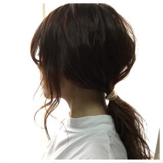ショート ヘアアレンジ 簡単ヘアアレンジ 波ウェーブ ヘアスタイルや髪型の写真・画像