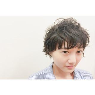 ワイドバング パーマ 透明感 ゆるふわ ヘアスタイルや髪型の写真・画像