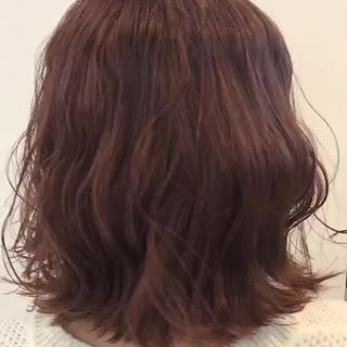 ヘアアレンジ ガーリー ボブ ラベンダーアッシュ ヘアスタイルや髪型の写真・画像