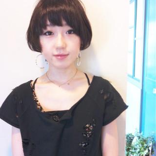 大人かわいい 似合わせ 黒髪 ショート ヘアスタイルや髪型の写真・画像