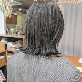 大人ハイライト 透明感 ハイライト ミディアム ヘアスタイルや髪型の写真・画像
