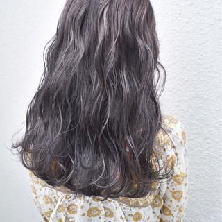 外国人風 外国人風カラー アッシュ ロング ヘアスタイルや髪型の写真・画像