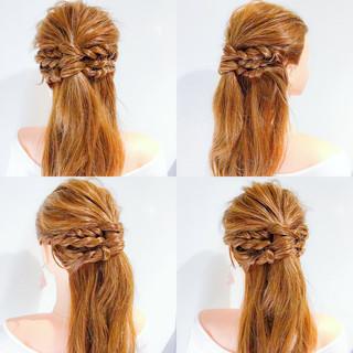 女子会 アウトドア フェミニン ロング ヘアスタイルや髪型の写真・画像