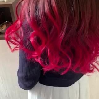 大人かわいい ベリーピンク ナチュラル アンニュイほつれヘア ヘアスタイルや髪型の写真・画像