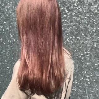 ピンクベージュ 結婚式 成人式 デート ヘアスタイルや髪型の写真・画像