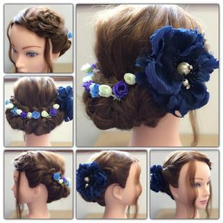 大人かわいい 三つ編み ヘアアレンジ ロング ヘアスタイルや髪型の写真・画像 ヘアスタイルや髪型の写真・画像