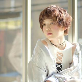 ヘアアレンジ ハイライト 春 モード ヘアスタイルや髪型の写真・画像