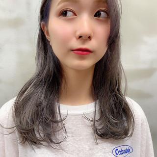 ラベンダーアッシュ バイオレットアッシュ 透け感ヘア 透明感カラー ヘアスタイルや髪型の写真・画像