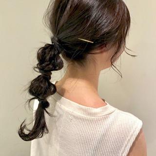 ラーメンマンヘア ヘアアレンジ ロング 暗髪 ヘアスタイルや髪型の写真・画像