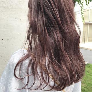 ピンク パープル ハイライト アンニュイ ヘアスタイルや髪型の写真・画像