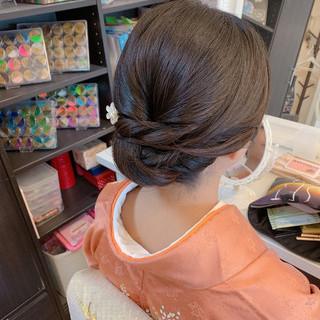 黒髪 結婚式 エレガント 訪問着 ヘアスタイルや髪型の写真・画像