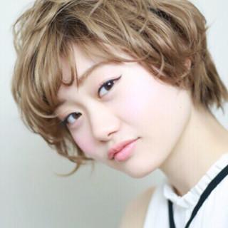 ガーリー ショート 大人女子 エレガント ヘアスタイルや髪型の写真・画像