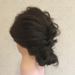 黒髪 ミディアム 大人かわいい ナチュラル ヘアスタイルや髪型の写真・画像