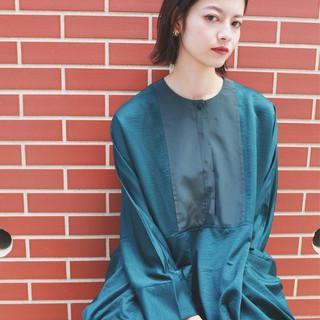 フェミニン 外ハネ エフォートレス 透明感 ヘアスタイルや髪型の写真・画像