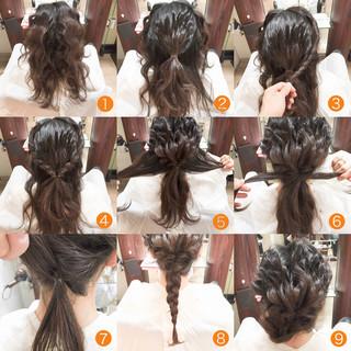 セミロング 外国人風 ヘアアレンジ フェミニン ヘアスタイルや髪型の写真・画像 ヘアスタイルや髪型の写真・画像