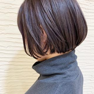 ショートヘア ショートボブ ショート 切りっぱなしボブ ヘアスタイルや髪型の写真・画像