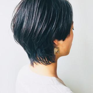 フェミニンウルフ ショート ウルフカット モード ヘアスタイルや髪型の写真・画像