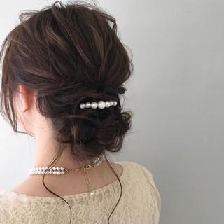結婚式 ミディアム デート ヘアアレンジ ヘアスタイルや髪型の写真・画像