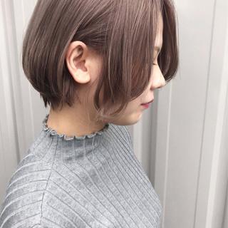 ショートヘア ナチュラル ショート 透明感 ヘアスタイルや髪型の写真・画像