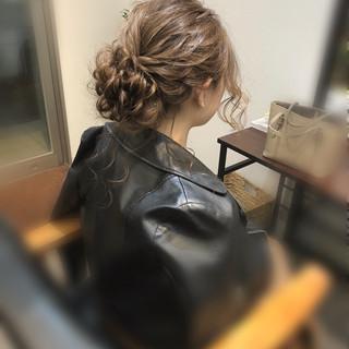 ヘアアレンジ アップ ヘアセット フェミニン ヘアスタイルや髪型の写真・画像 ヘアスタイルや髪型の写真・画像