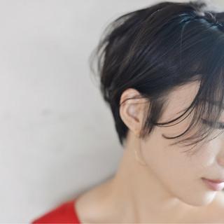 ナチュラル マッシュ 透明感 秋 ヘアスタイルや髪型の写真・画像