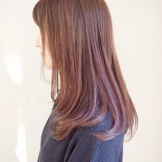 ピンク ラベンダーピンク 外国人風カラー ナチュラル ヘアスタイルや髪型の写真・画像