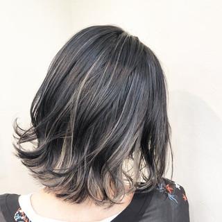 ユニコーンカラー グラデーションカラー ハイライト ボブ ヘアスタイルや髪型の写真・画像