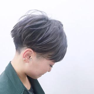 グラデーションカラー 大人かわいい ショート ハイライト ヘアスタイルや髪型の写真・画像