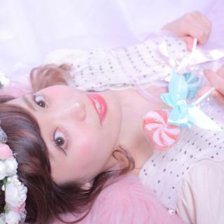 セミロング ヘアアレンジ 結婚式ヘアアレンジ 編みおろしヘア ヘアスタイルや髪型の写真・画像