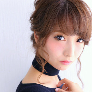 大人女子 簡単ヘアアレンジ 大人かわいい ショート ヘアスタイルや髪型の写真・画像