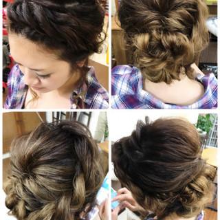 ルーズ 前髪なし セミロング アップスタイル ヘアスタイルや髪型の写真・画像