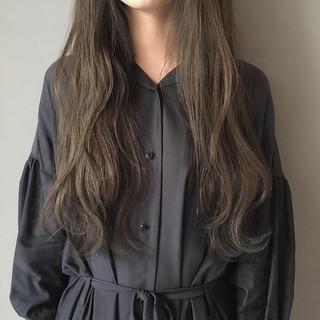 スモーキーカラー 外国人風カラー ロング ナチュラル ヘアスタイルや髪型の写真・画像